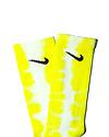 TYE DYE SOCKS - Bright Yellow Stripe