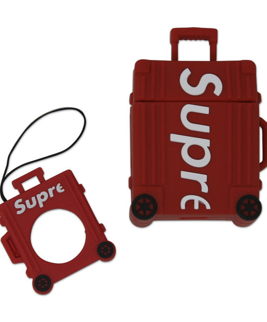 SUPREME RED SUITCASE AIR PODS