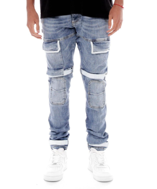 Strapped Up Utility Denim Jeans