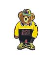 TRIPPY PINS Snow Bear Yellow Pin