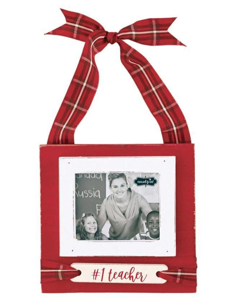Mudpie TEACHER TARTAN HANGING FRAME