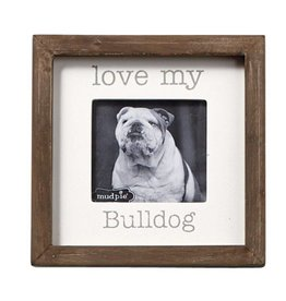 Mudpie MUD Bulldog Sitting Plq