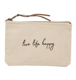 Mudpie MUD Live Life Canvas Pouch
