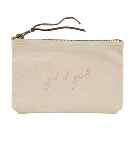 Mudpie MUD Get It Grl Canvas Pouch