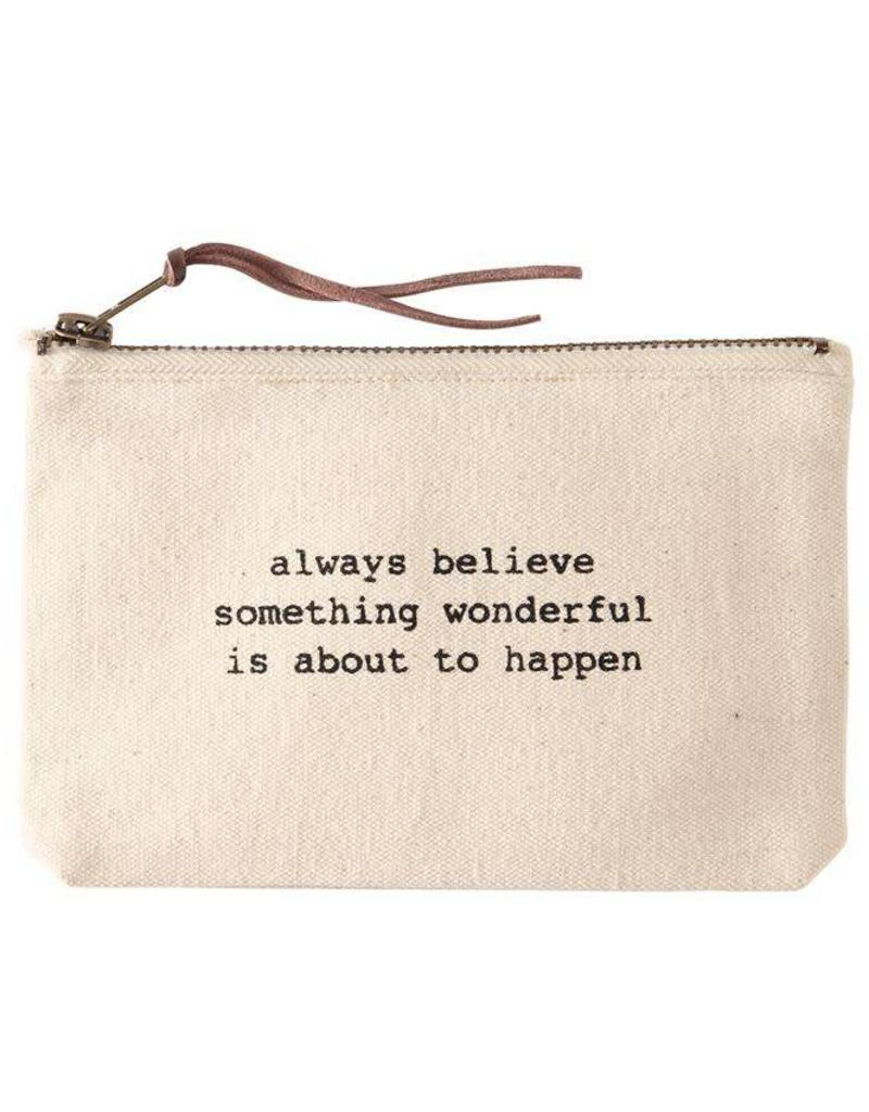 Mudpie ALWAYS- PAZITIVE CANVAS POUCHES