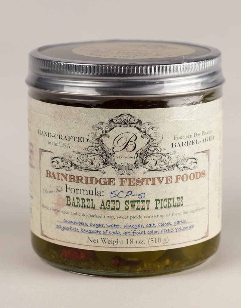 Bell Buckle Country Store BainBridge Barrel-Aged Crisp Sweet Pickles