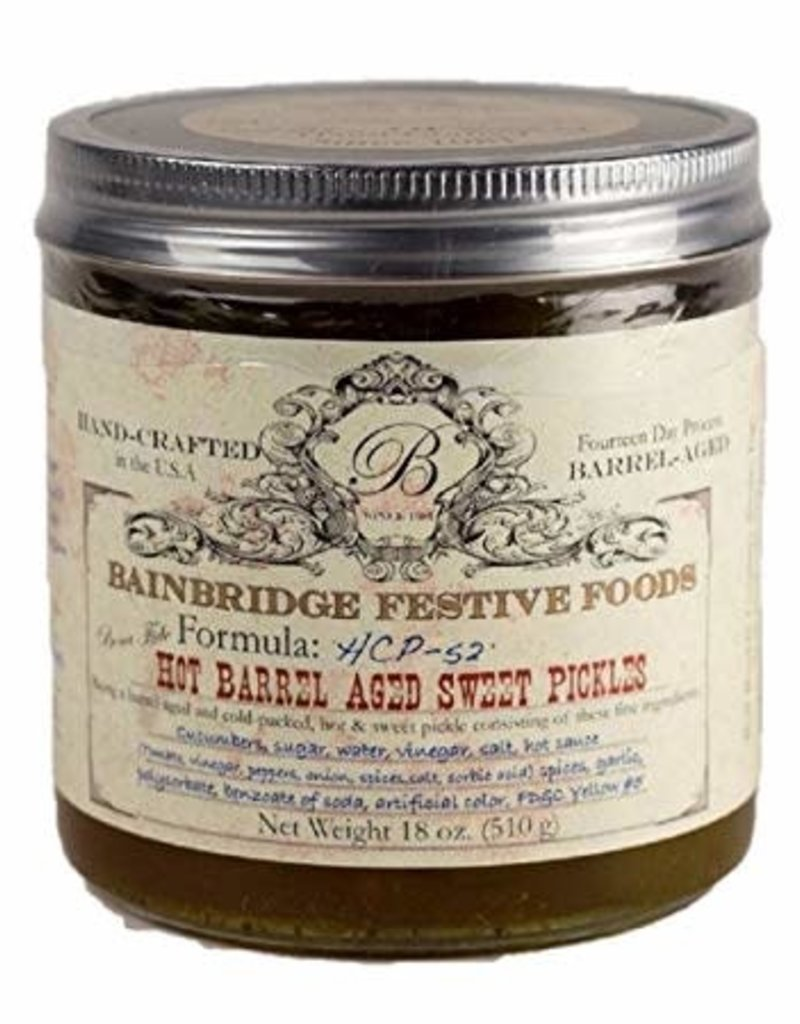 Bell Buckle Country Store BainBridge Hot Barrel-Aged Sweet Pickles