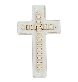 Small Beaded Wood Cross