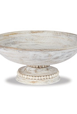 Mudpie Beaded Pedestal Serving Bowl