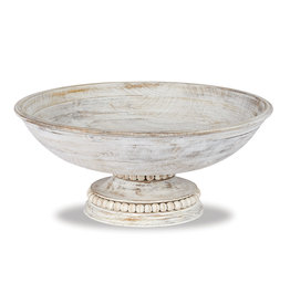 Beaded Pedestal Serving Bowl