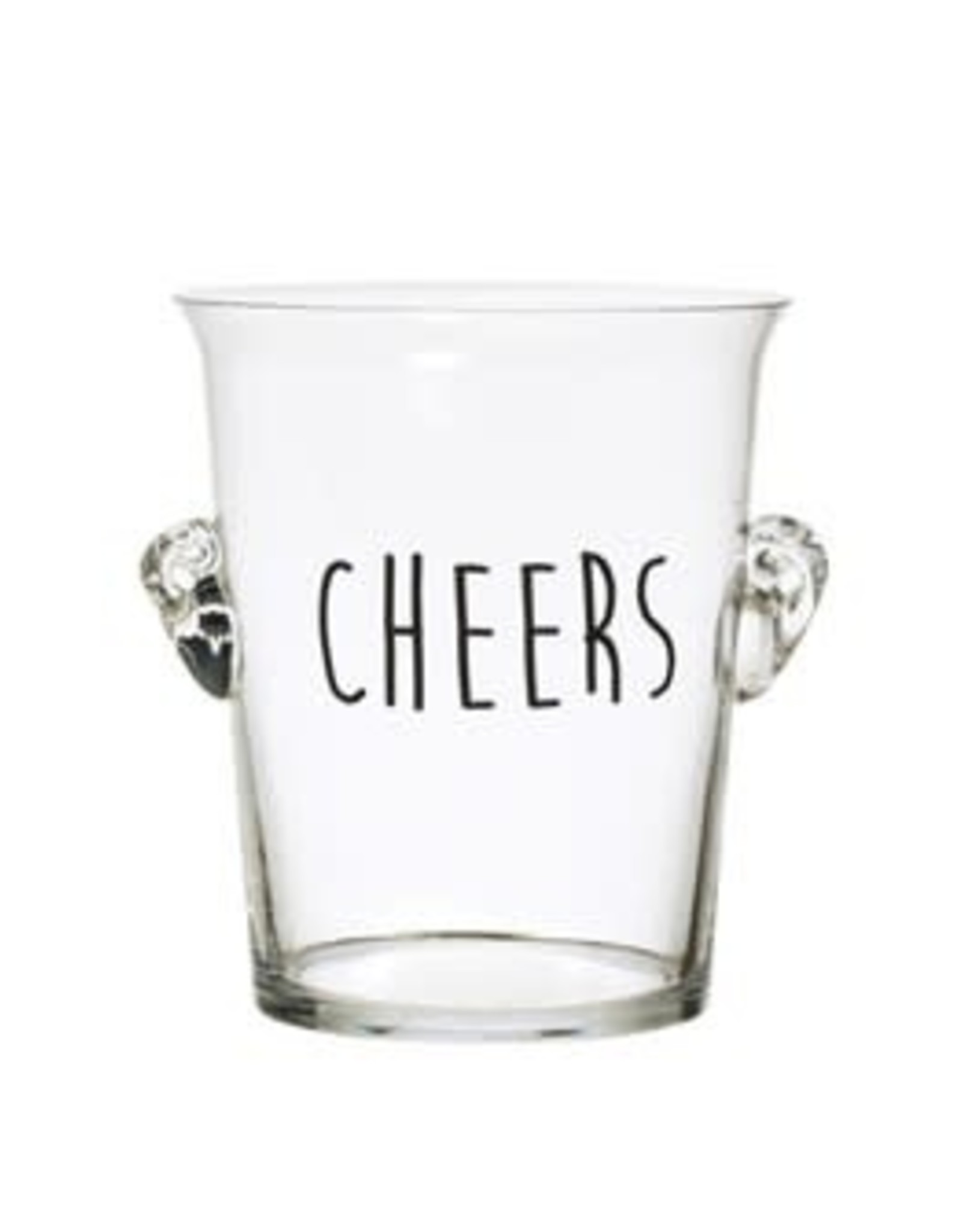 Creative Co Op Glass Cheers Ice Bucket