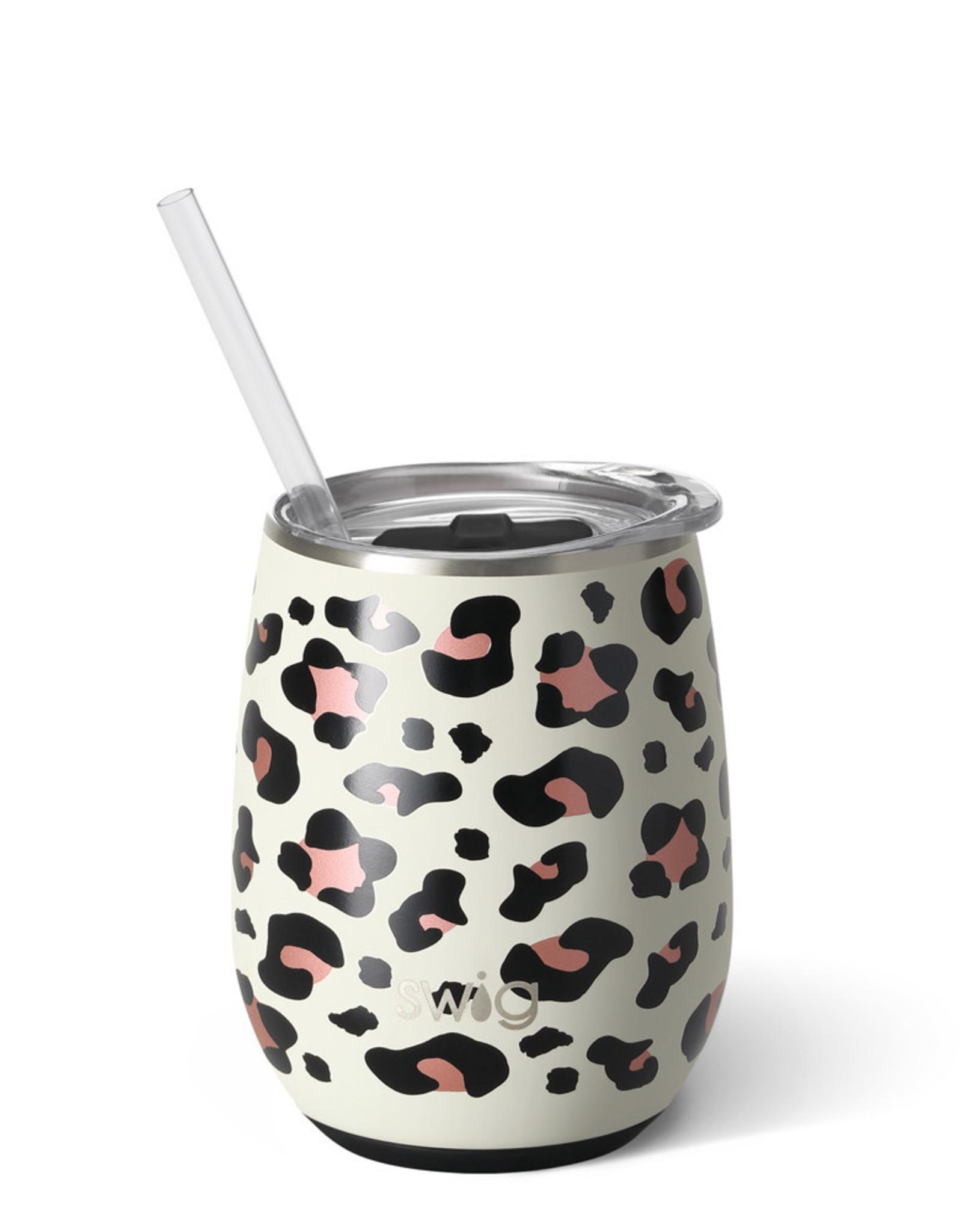 Swig 14oz Stemless Wine Cup Luxy Leopard