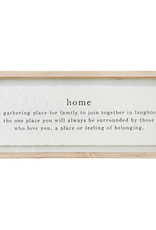 Mudpie Home Definition Glass Plaque