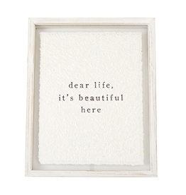 Dear Life Plaque