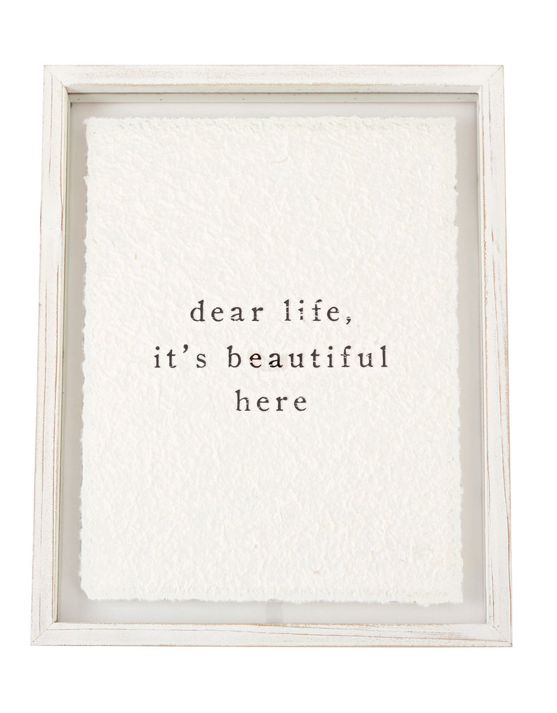Mudpie Dear Life Glass Plaque