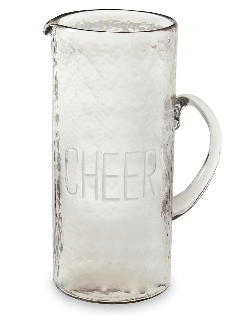 Mudpie Cheers Glass Pitcher