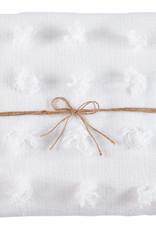 Mudpie Decorative Blanket, White