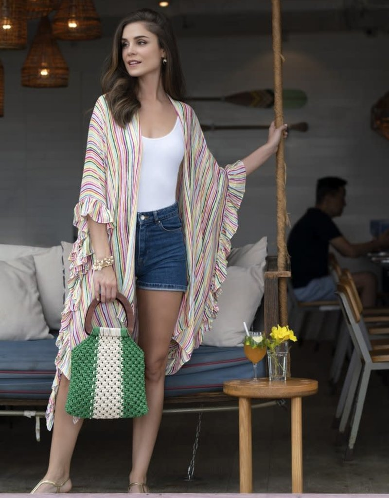 Multicolor Kimono, One Size