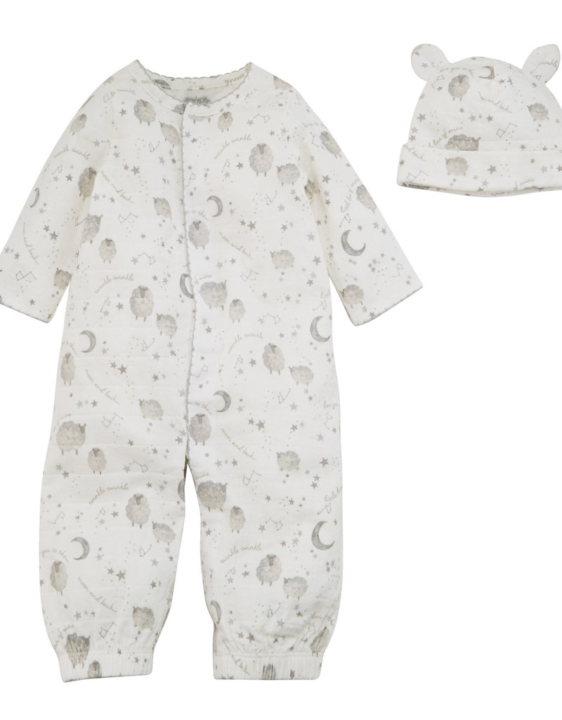 Mudpie Sheep Baby Gown, 0-3 Mos.