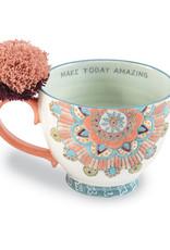 Mudpie Coral Mandala Boho Mug