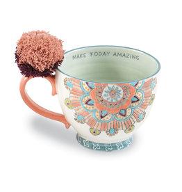 Coral Mandala Boho Mug