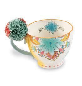 Blue Flower Boho Mug
