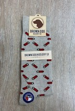 Brown Dog Hosiery Co. Socks - Shotgun Shells on Oatmeal