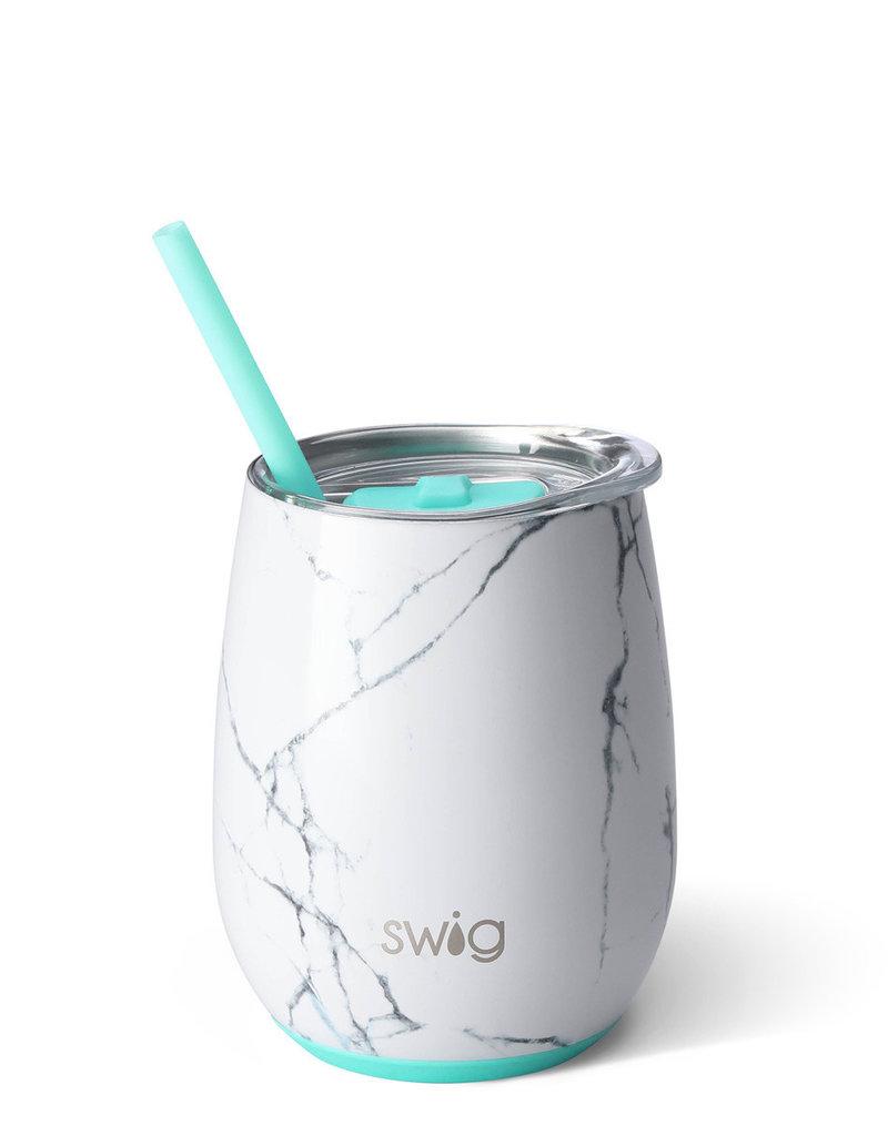 Swig 14oz Stemless Wine Cup Marble Slab