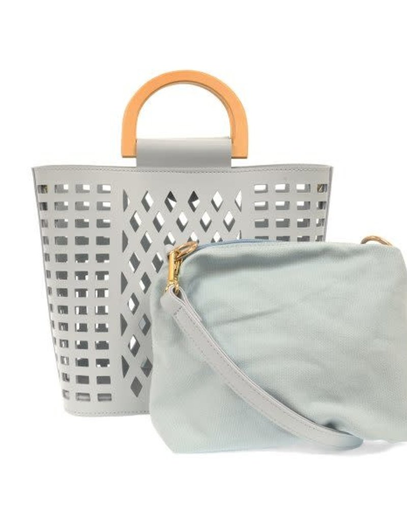 Madison Cut Out Tote - Sky Blue