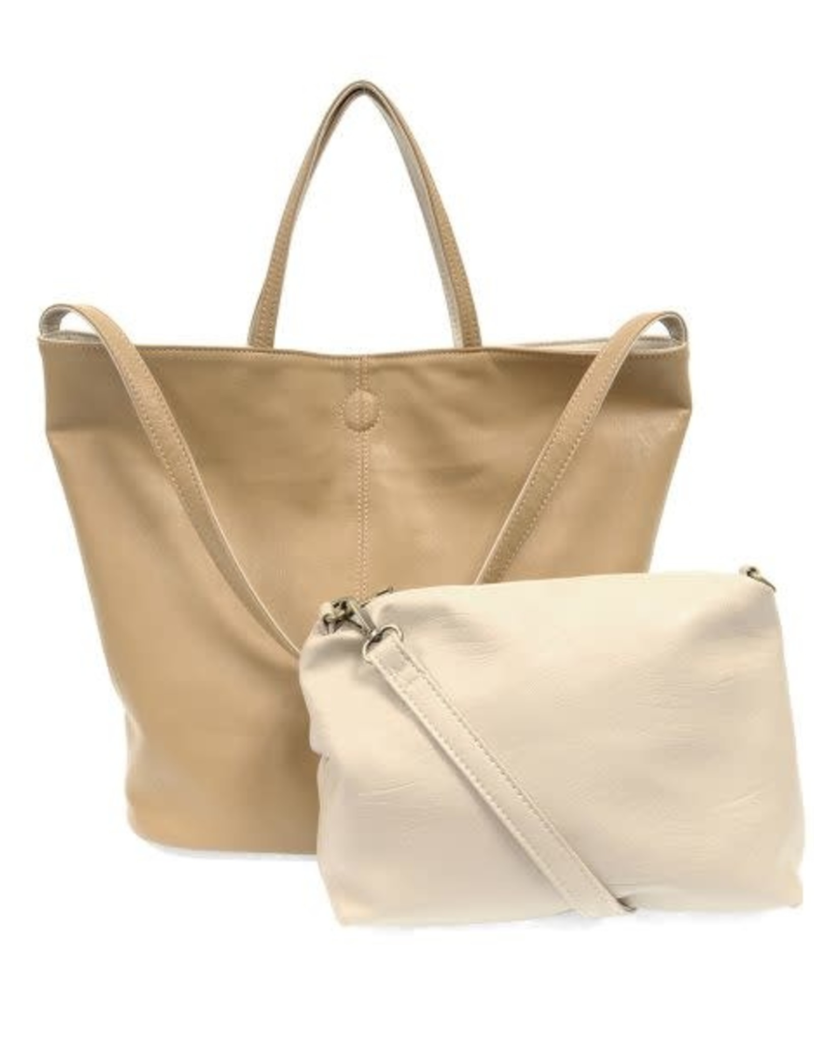 Riley Reversible Slouchy Tote - Camel