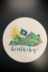 Outlined State of Kentucky Map Coaster