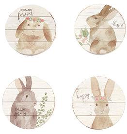 Wooden Bunny Coasters