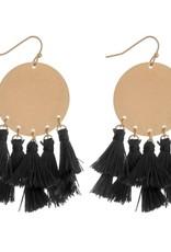 Fringe Tassel Bohemian Earrings - Black & Gold