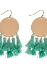 Fringe Tassel Bohemian Earrings - Teal & Gold