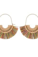 Fringe Tassel Drop Earrings - Multi
