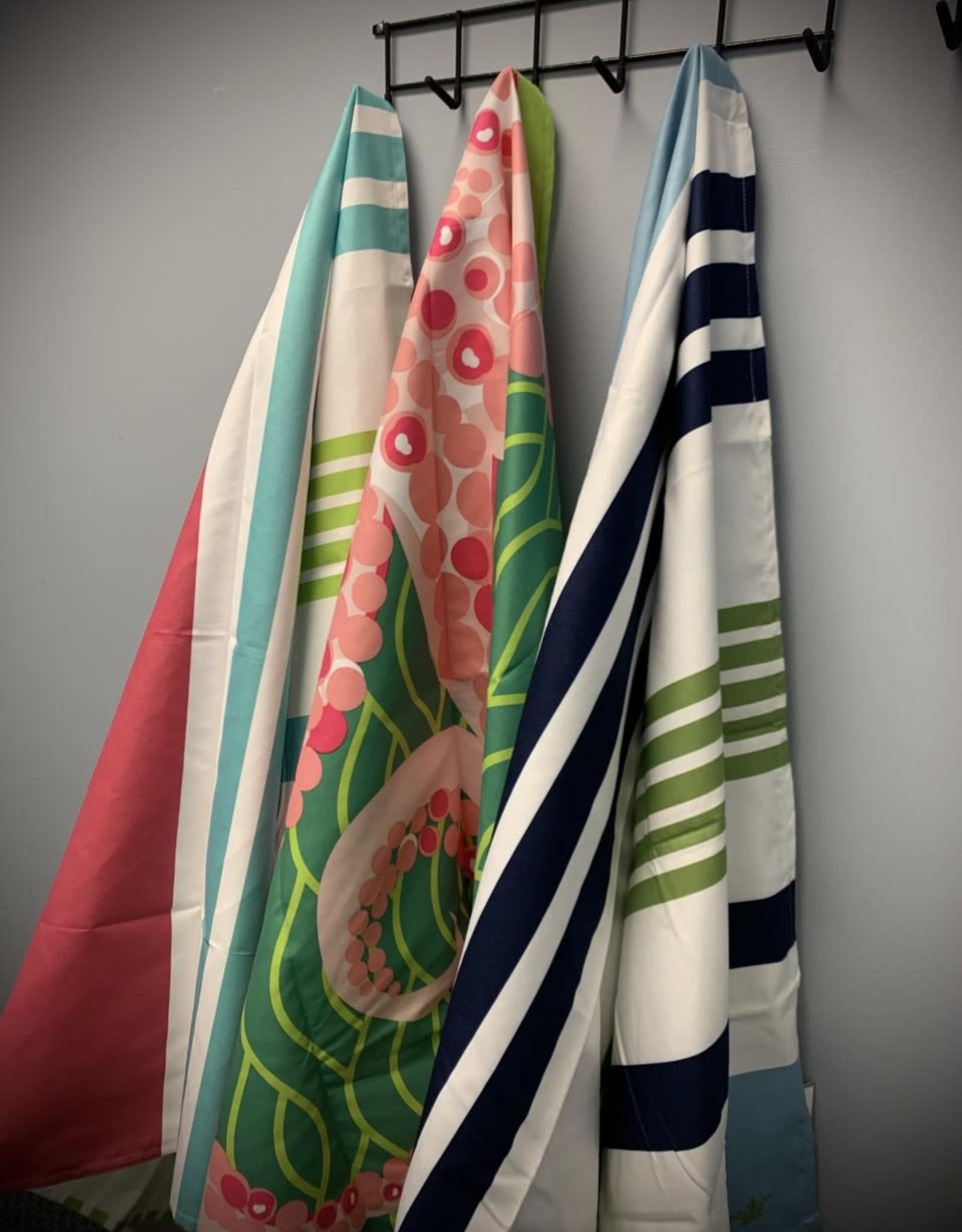 Microfiber Beach Towel - Paradise Blues Stripe Giant