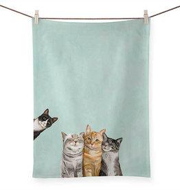 Tea Towel - Feline Friends