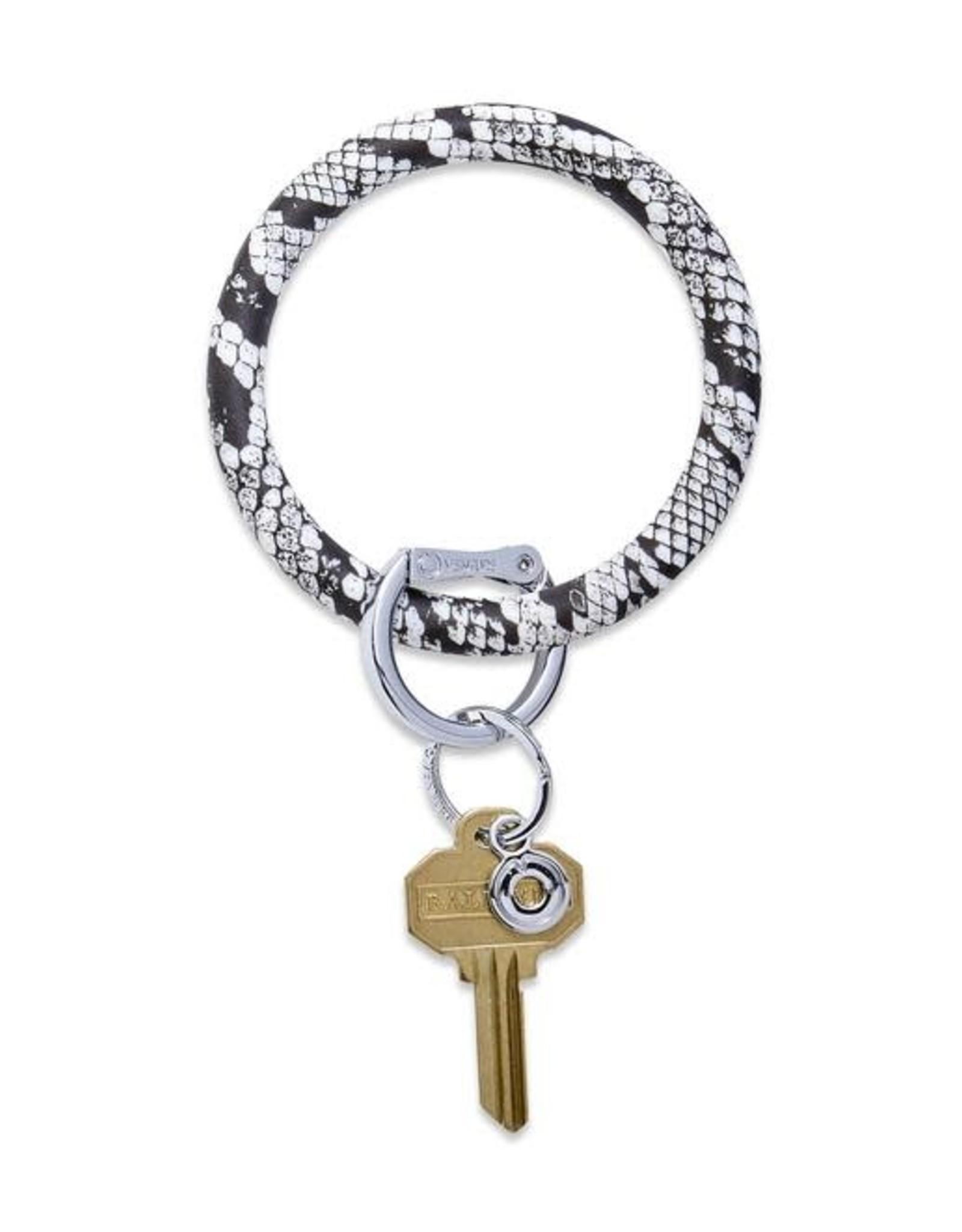 O Key Ring - Tuxedo Snakeskin
