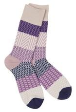 Crescent Sock Co World's Softest Socks - Madeline Purples