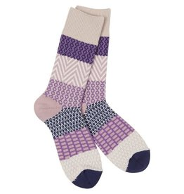 Crescent Sock Co World's Softest Socks - Madeline Purples