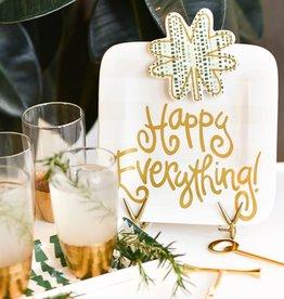Happy Everything Mini Platter - White Stripe