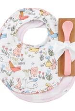 Bibs & Spoon Set - Chicken Floral