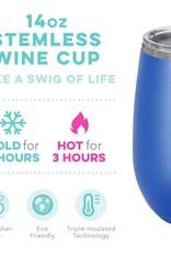 Swig Stemless Wine - 14oz - Matte Royal Blue