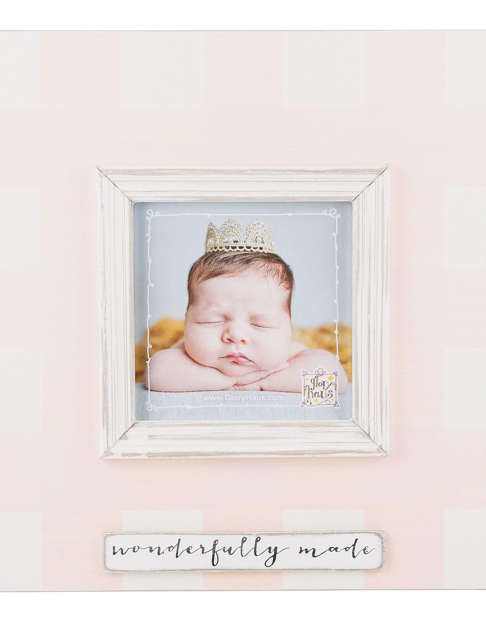 Wonderfully Made Frame - Pink