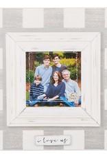 I Love Us Frame - Plaid