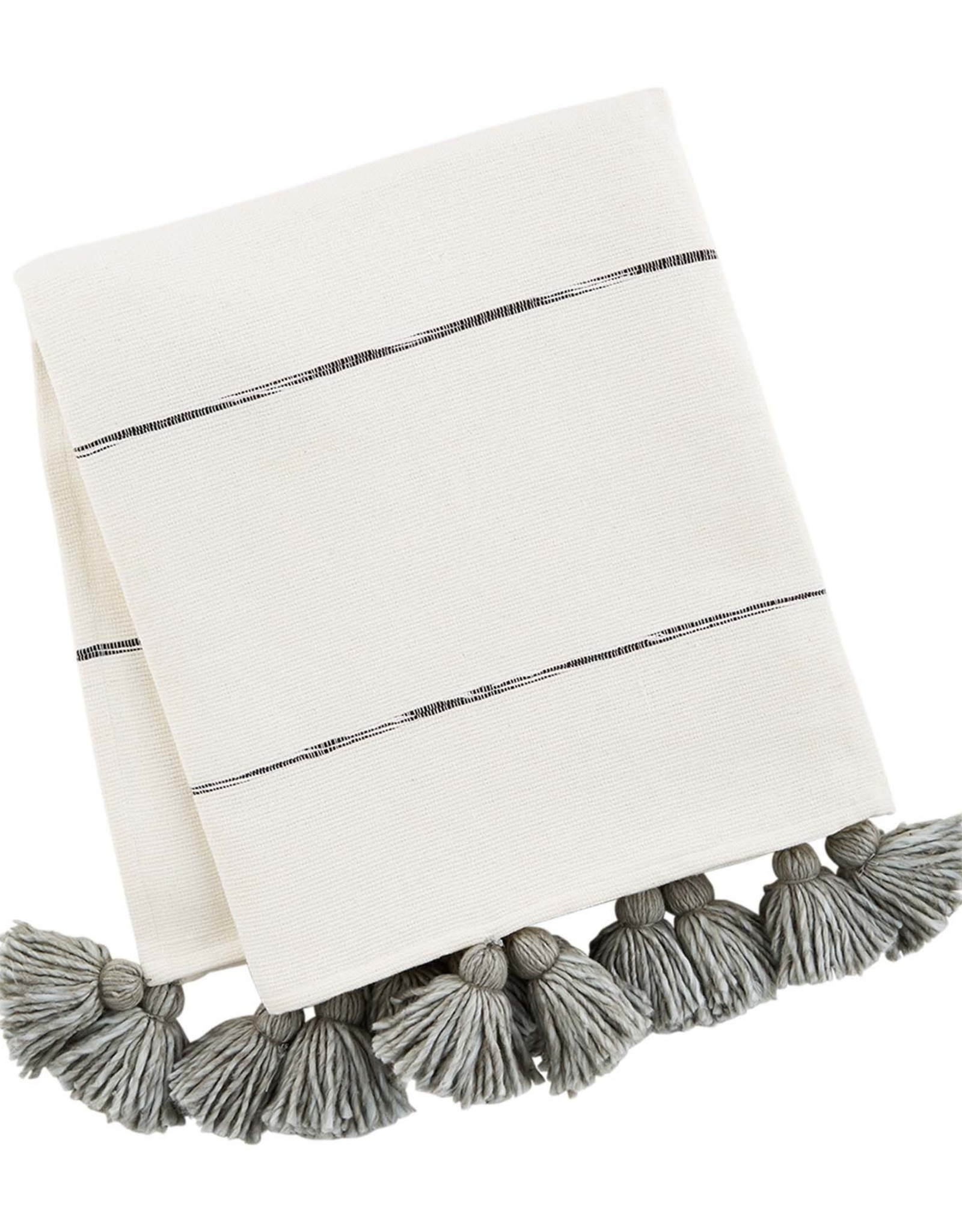 Tassel Throw - Gray