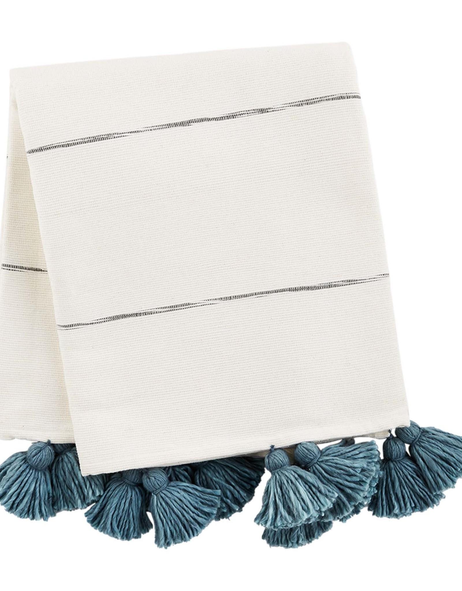 Tassel Throw - Blue