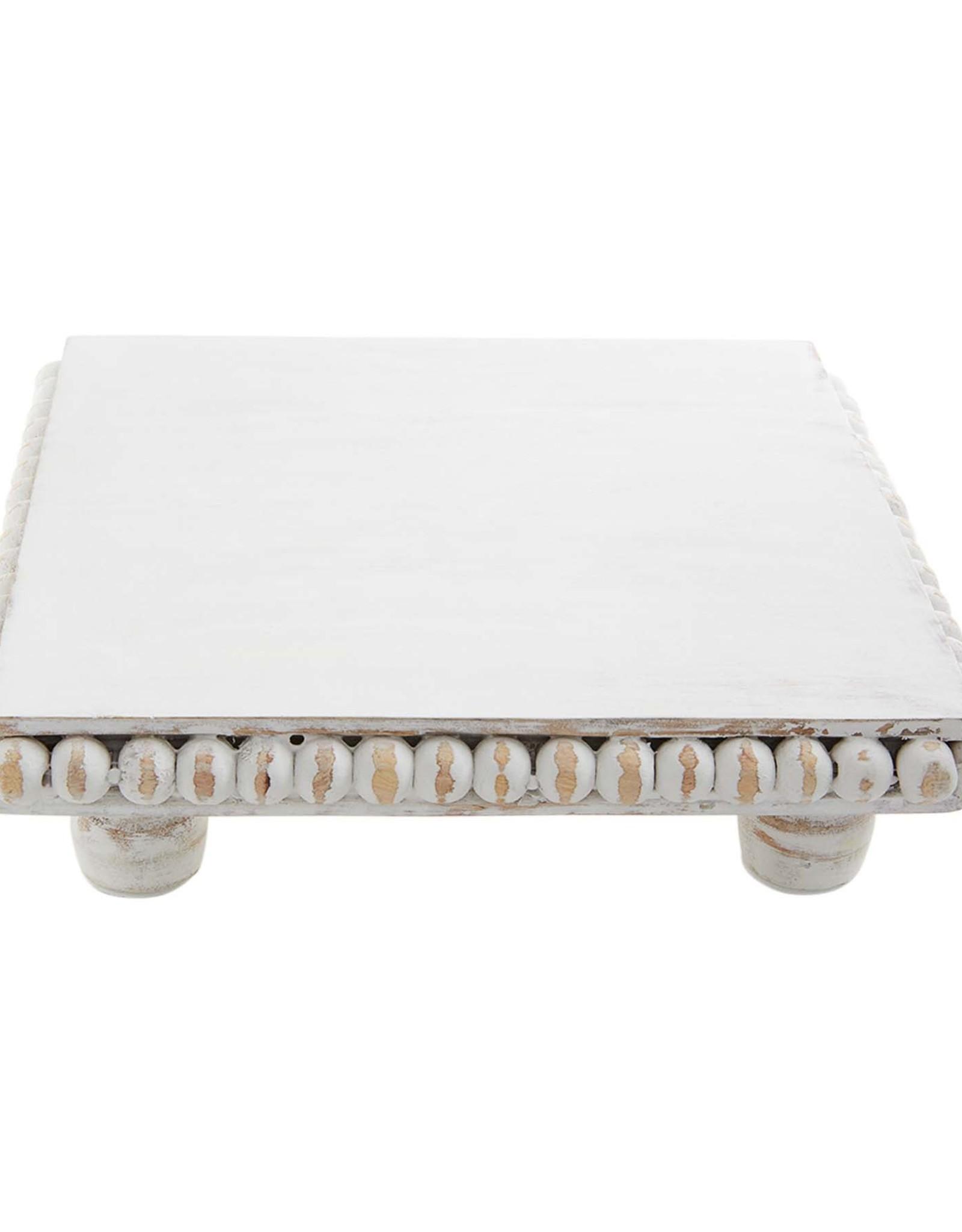 White Wood Beaded Trivet