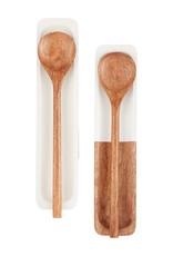 Wooden Spoon Set - White