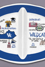 Kentucky Wildcats 2 Sectioned Melamine Tray